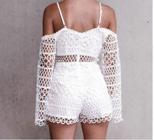 Off-The-Shoulder White Lace Play suit*