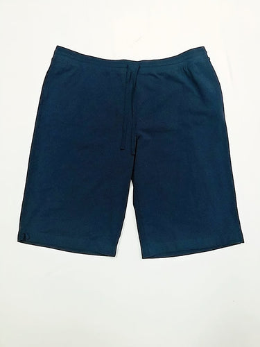 Karen Scott Navy Cotton Shorts 2X