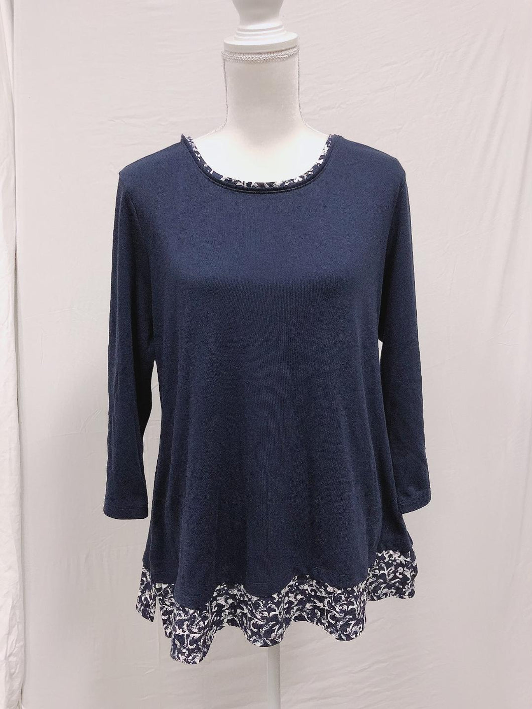 Karen Scott Blue Plus Size top 1X-NEW
