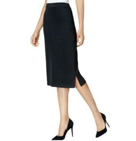 Kasper Knit Midi Skirt - Black XS