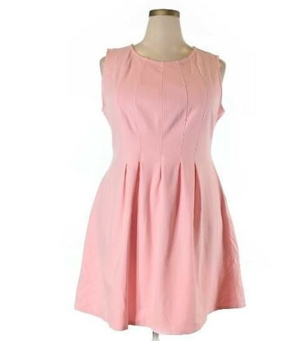 Monteau Solid Light Pink Casual Dress Size 1X