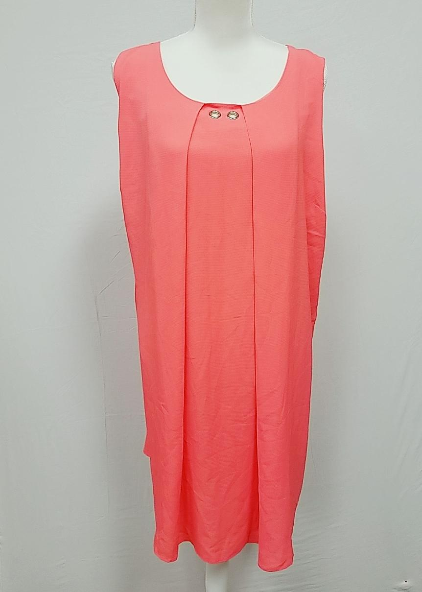Ny Collection Long Coral Summer Dress 2X-NEW
