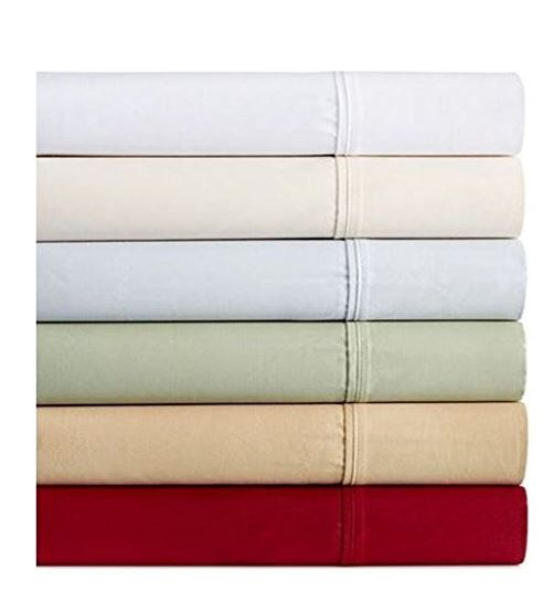 Dover Collection 450T Combed Cotton Sateen King Sheet Set - Green