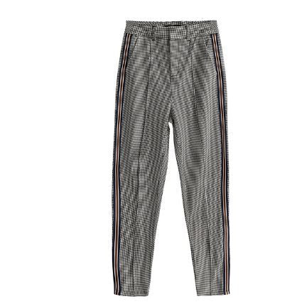 Women's Casual Grid Plaid Fashion Pants*