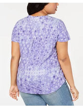 Style & Co Plus Size Cotton Geometric-Print T-Shirt, 3X