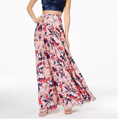 Fame and Partners Printed Maxi Skirt, 18