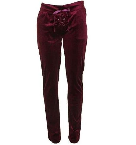 Material Girl Velour Lounge Pants-XS
