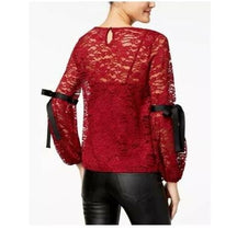 Lilly Black juniors Red Lace Top-Medium