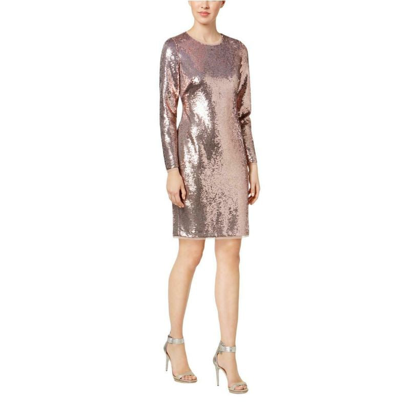 Calvin Klein Rose Gold Shimmer Dress-12