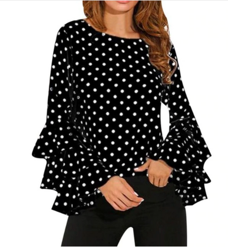 Woman's Polka Dot Blouse