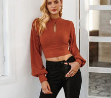 Sexy Lantern Sleeve Elegant Crop Top*