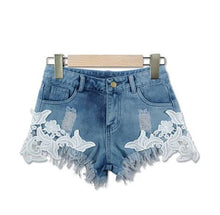Sexy Patchwork Flower High Waist Shorts*