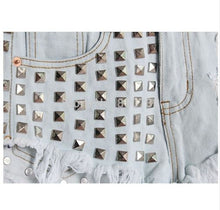 Jeweled Fashion High Waist Denim Shorts*