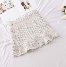 High Waist Plaid Short Skirt*