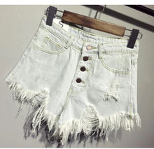 Casual Summer Ripped Denim Shorts*