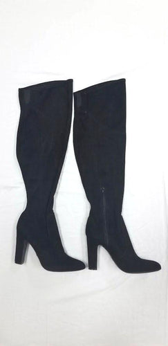 Unisa Black Suede Knee-High Boots 8.5M