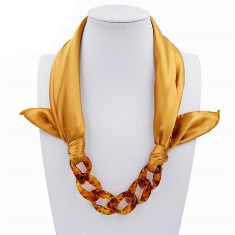 "FREE Classy Necklace Scarf ""JACINTHA"" in 4 Beautiful Combinations"