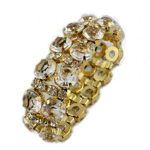 "FREE!! Diamond Manchette Summer Bracelet ""CAMARI"" in Gold"