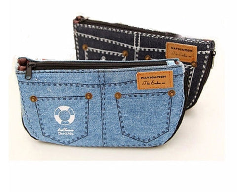 "FREE Jeans Cosmetic Bag ""DENIM"" in blue or dark blue"
