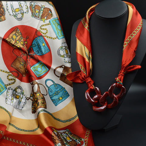 "FREE Fashion Necklace Pendant Scarf ""ROSALEEN"" in 7 Beautiful Combinations"
