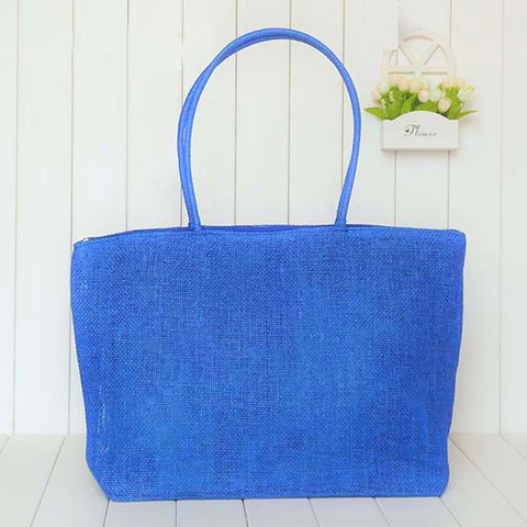 "FREE!!  Large Straw Beach Bag ""SUNSHINE"" in 13 colors!!"