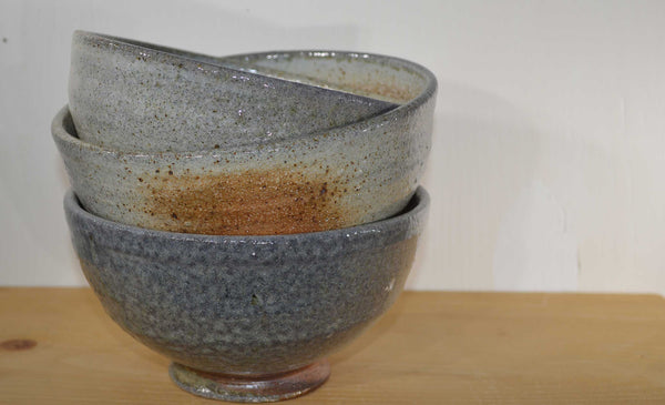mdoxey wood-soda fired handmade pottery bowls