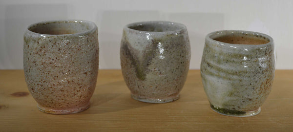 mdoxey wood-soda fired handmade pottery tumblers
