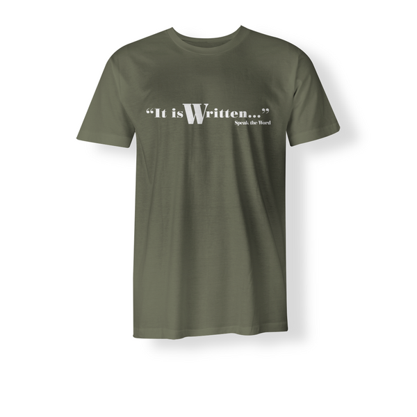 It is Written / Speak the Word: Men Christian T-Shirt (White)