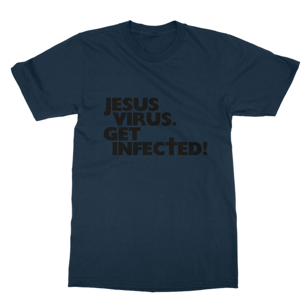 Jesus Virus (Black): Unisex T-Shirt (Without Symptoms)