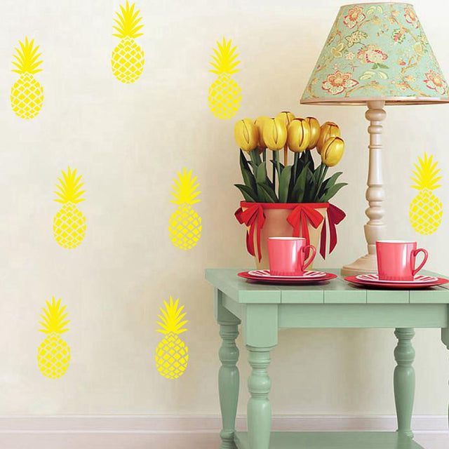 Chic Pineapple Removable Wall Decals - GottaHaveNow.com