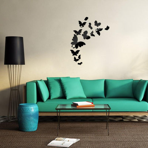 3D Mirror Butterfly Wall Decals - GottaHaveNow.com