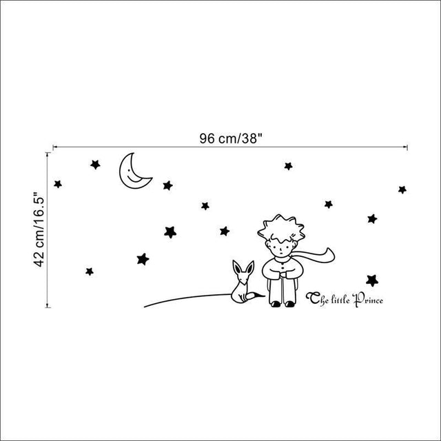 Little Prince Cartoon Removable Wall Decals - GottaHaveNow.com