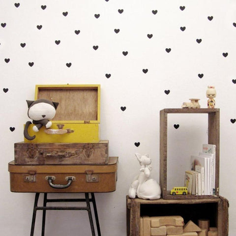 Heart Shaped Removable Wall Decals - GottaHaveNow.com