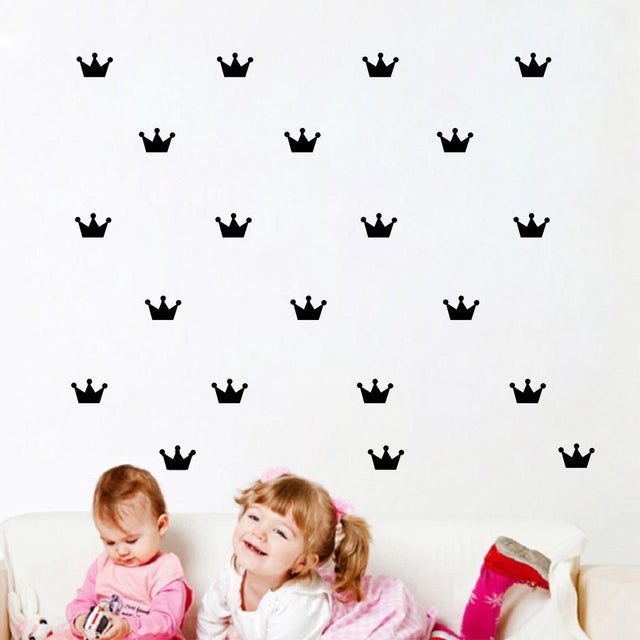 36 Piece Crown Removable Wall Decals - GottaHaveNow.com