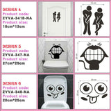 Funny Restroom Removable Decals - GottaHaveNow.com