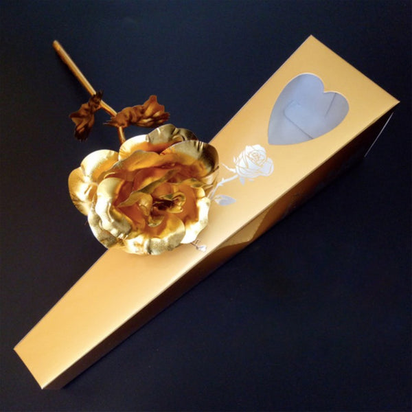 VALENTINE'S SPECIAL 24k Gold Dipped Rose w/Gift Box
