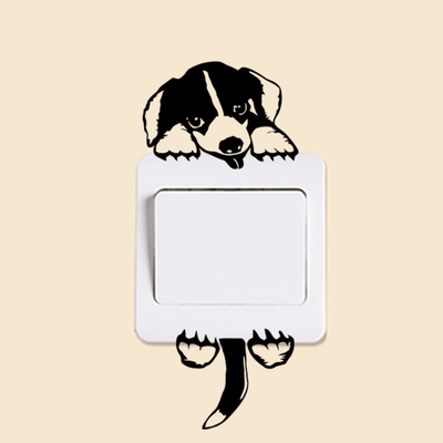Cute Puppy Light Switch Removable Decal