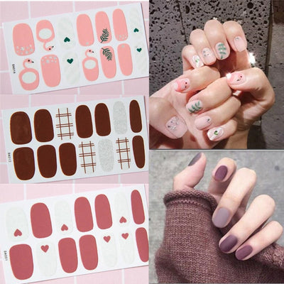 Stick-On Nail Polish : Glam Designs