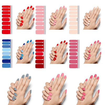 Stick-On Nail Polish : Solids