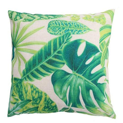 Tropical Leafs Pillow Cover