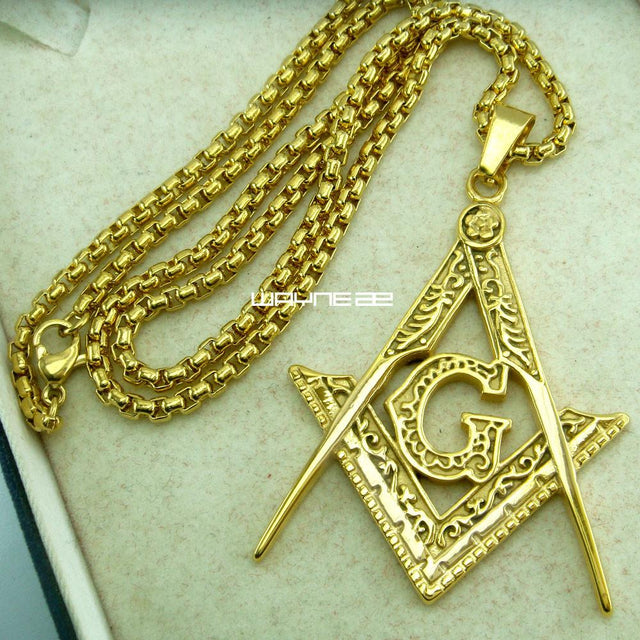 Masonic Pendant Necklace (Limited Edition Gold) - GottaHaveNow.com