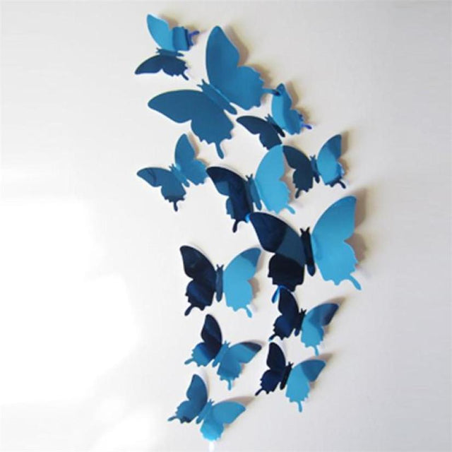 Mirror Butterfly 3D Wall Decals - GottaHaveNow.com