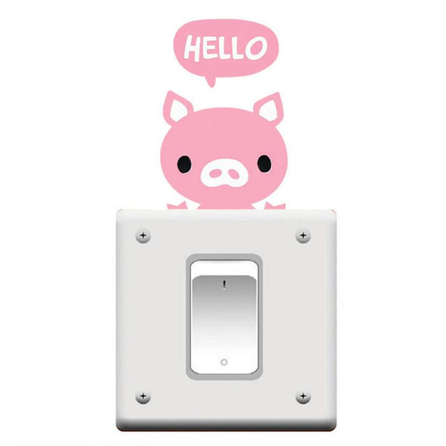Cute Animal Light Switch Removable Wall Decal - GottaHaveNow.com