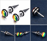 LGBT Spike Stud Earrings - GottaHaveNow.com
