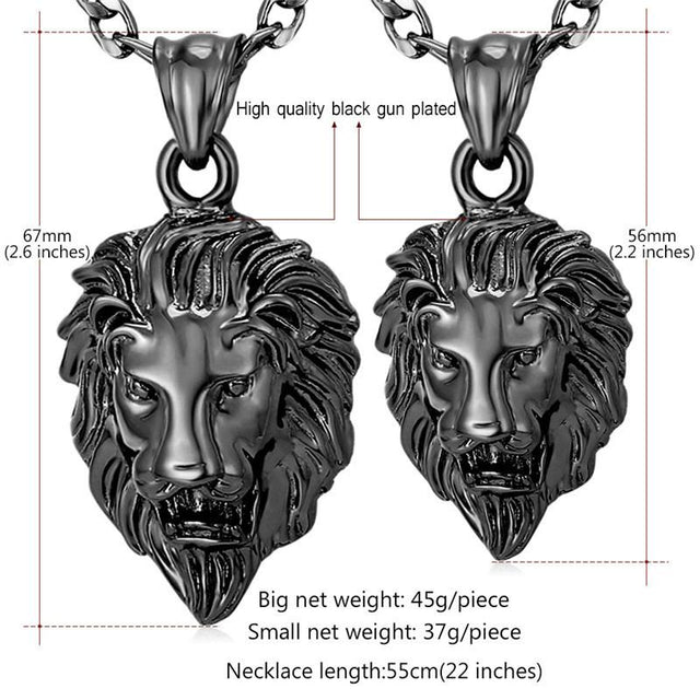 Plated Lion Head Necklace - GottaHaveNow.com