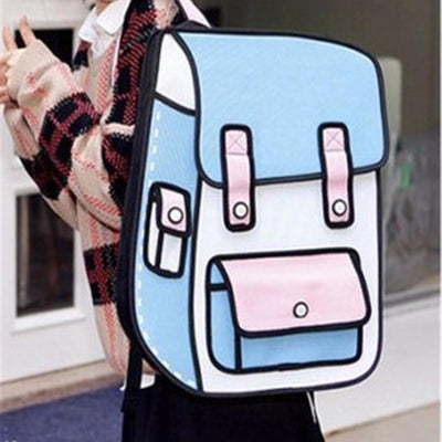Cartoon Style 3D Fashion Backpack