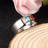 LGBT Modern Engagement/Wedding Band - GottaHaveNow.com