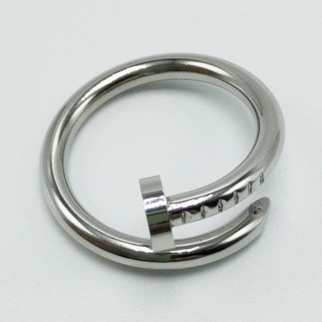 Nail Screw 18k Plated Stainless Steel Ring - GottaHaveNow.com