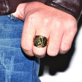 Classic Masonic Gold Plated Ring - GottaHaveNow.com