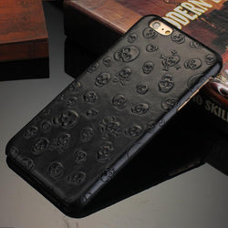 Genuine Leather Skull iPhone Case - GottaHaveNow.com